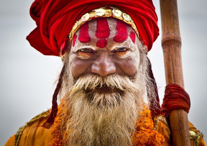 Baba mendicante a Varanasi (Uttar Pradesh 2012)