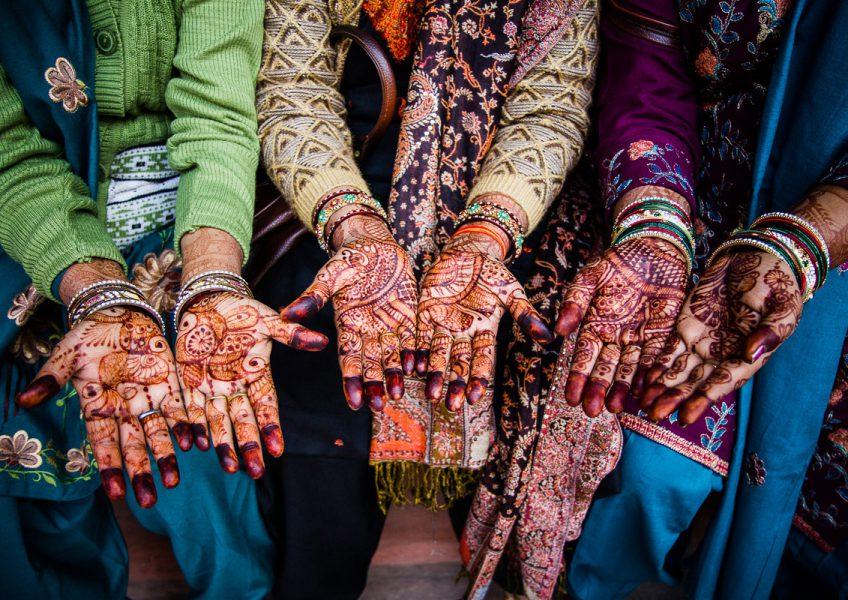 Mani e disegni fatti con l'henné (Agra, Uttar Pradesh 2012)