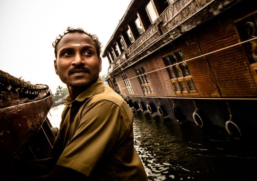 Sul traghetto che attraversa le backwaters di Alleppey (Kerala 2015)